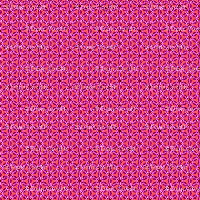 Pink Purple Spring Flowers Snowflakes
