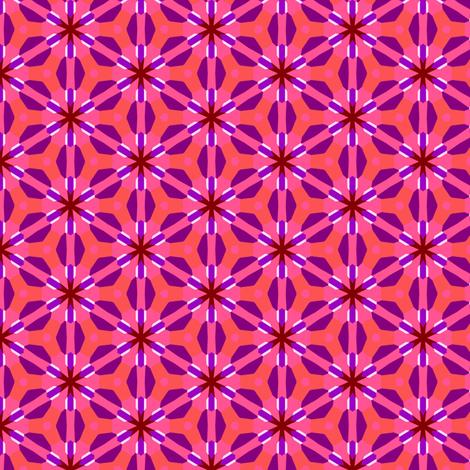 Pink Purple Spring Flowers Snowflakes fabric by phenompixels on Spoonflower - custom fabric