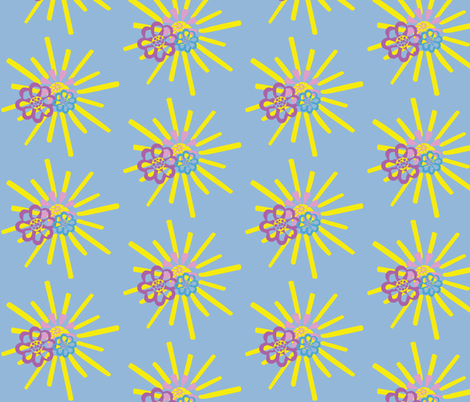 summerFlowers fabric by dolphinandcondor on Spoonflower - custom fabric