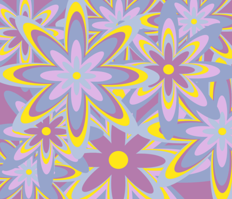 flower_power fabric by stickelberry on Spoonflower - custom fabric