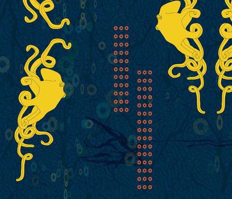below_the_surface fabric by tangerinesamurai on Spoonflower - custom fabric