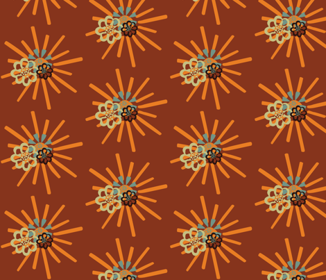 summerFlowersinfall fabric by dolphinandcondor on Spoonflower - custom fabric