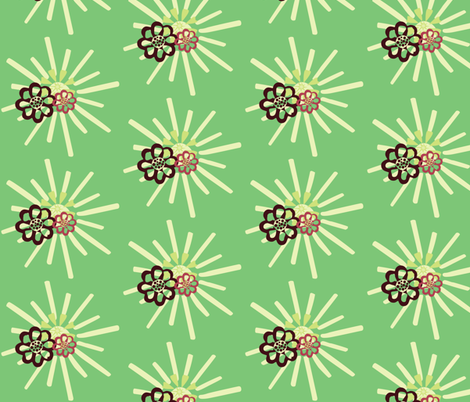 summerFlowersinCalm fabric by dolphinandcondor on Spoonflower - custom fabric