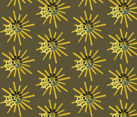 summerFlowersinOvercast fabric by dolphinandcondor on Spoonflower - custom fabric