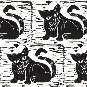Cat Block Print 1