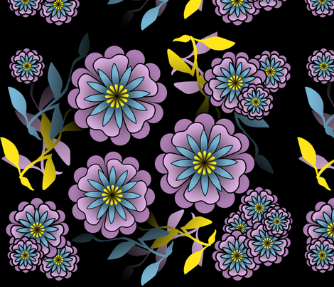 A Bright Morning Flower fabric by hannah_banana on Spoonflower - custom fabric