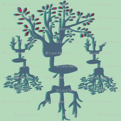 Office Chair Tree - Aqua