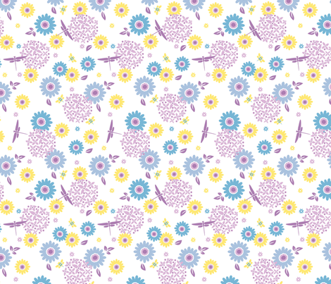 Summer Buzz fabric by acbeilke on Spoonflower - custom fabric