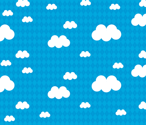 Argyle Clouds fabric by babydobbins on Spoonflower - custom fabric