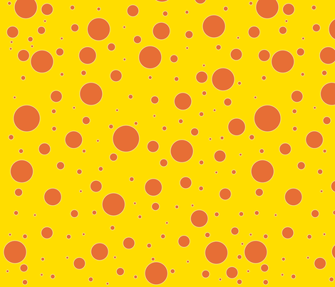Giraffe Spots fabric by babydobbins on Spoonflower - custom fabric