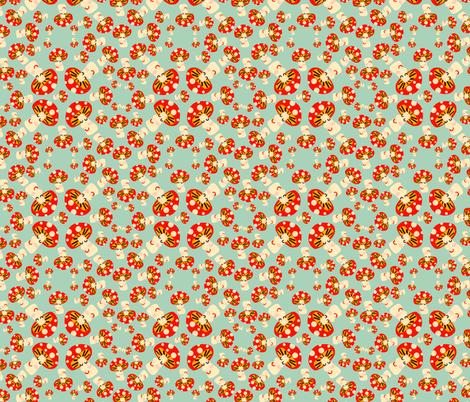 mushrooms fabric by heidikenney on Spoonflower - custom fabric