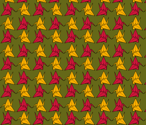 Paper Cranes fabric by nekineko on Spoonflower - custom fabric