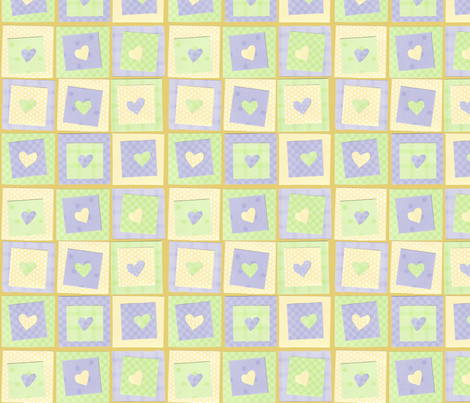 Hearts_and_Squares fabric by freelanceprowriter on Spoonflower - custom fabric