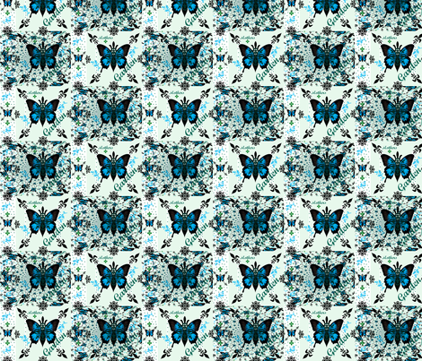 Fleur-de-lis butterfly  Mothers Garden fabric by paragonstudios on Spoonflower - custom fabric