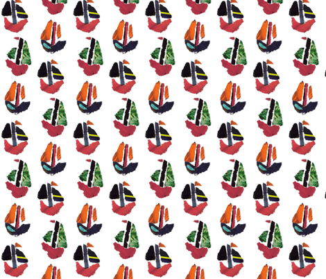 Paper Boats Float fabric by susienielsen32 on Spoonflower - custom fabric
