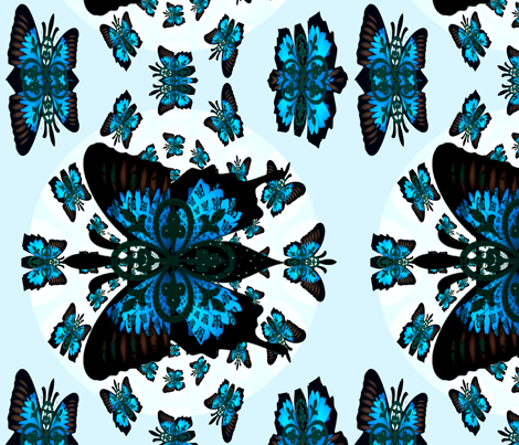Fleur-de-lis butterfly  Mothers Garden-ed fabric by paragonstudios on Spoonflower - custom fabric
