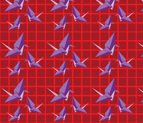 Origami Japanese Crane fabric by hapagirldesigns on Spoonflower - custom fabric