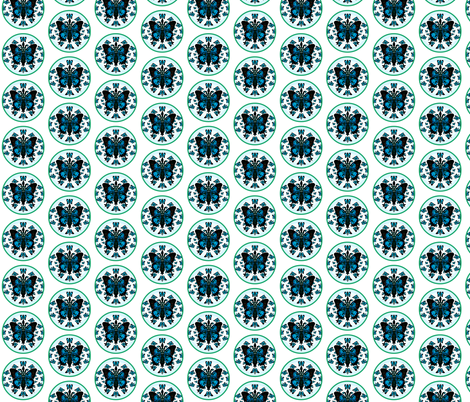 Fleur-de-lis butterfly Crest  Mothers Garden  fabric by paragonstudios on Spoonflower - custom fabric