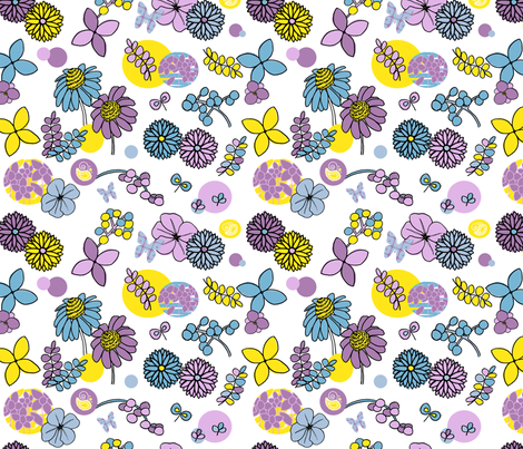 Paintbox Flowers fabric by mandyd on Spoonflower - custom fabric