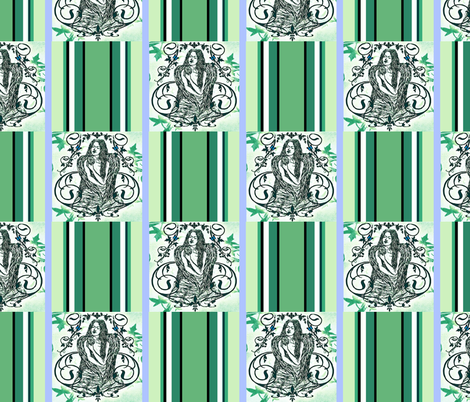 Crest Checked - Grieving Mothers Garden's fabric by paragonstudios on Spoonflower - custom fabric