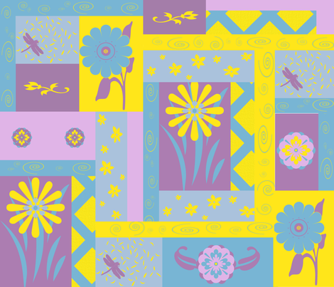 Summer Trellis fabric by poetryqn on Spoonflower - custom fabric