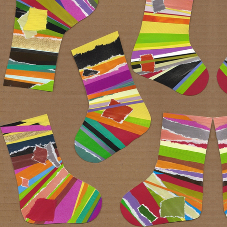 paper stockings fabric by scrummy on Spoonflower - custom fabric