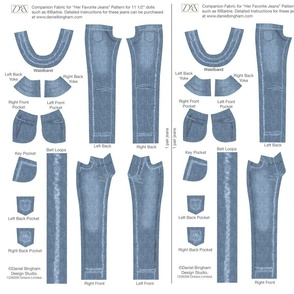 """Her Favorite Faded Jeans 11 1/2"""" doll (Barbie)"""