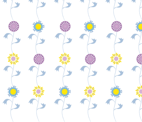 folksy floral fabric by mondaland on Spoonflower - custom fabric