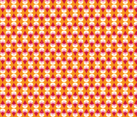 Little Forest Gnome in orange fabric by bora on Spoonflower - custom fabric
