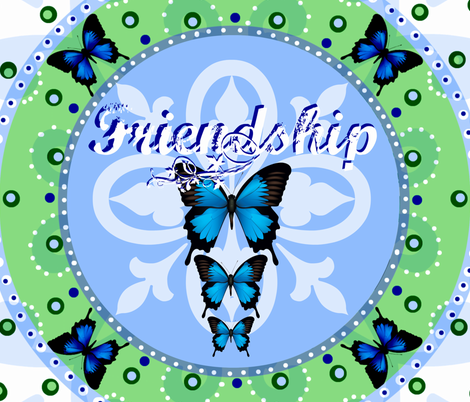 Friendship Crest- Butterfly Garden fabric by paragonstudios on Spoonflower - custom fabric