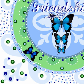 Friendship Crest- Butterfly Garden
