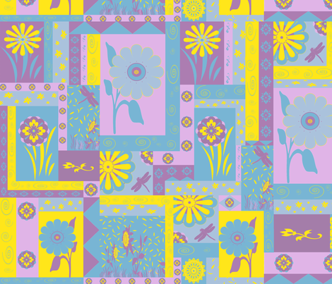 How Does My Garden Grow? fabric by poetryqn on Spoonflower - custom fabric