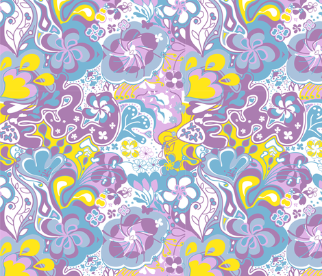 flowerpower_ll fabric by luana_life on Spoonflower - custom fabric