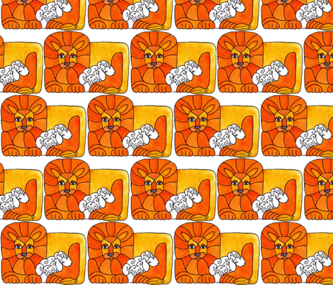 Lio and the Lamb fabric by liquidambar on Spoonflower - custom fabric