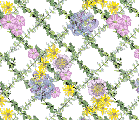 Summer Flowers fabric by juliamonroe on Spoonflower - custom fabric