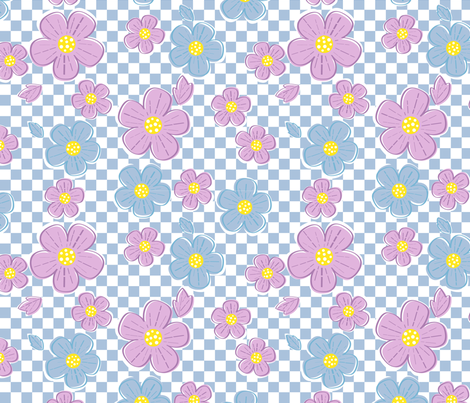 Flower Power fabric by dynasty_b on Spoonflower - custom fabric