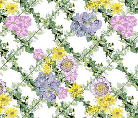 Summer Flowers Contest Entry fabric by juliamonroe on Spoonflower - custom fabric