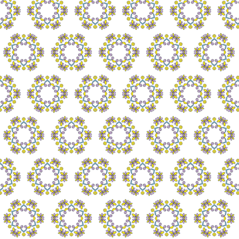 Summer Flower and Ribbons fabric by captiveinflorida on Spoonflower - custom fabric