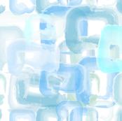 Watercolor Squares - Blue
