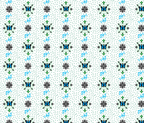 Fleur-de-lis butterfly dots  Mothers Garden fabric by paragonstudios on Spoonflower - custom fabric