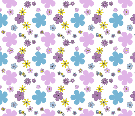 floral_dancing_violas fabric by rockpaperfabric_design on Spoonflower - custom fabric