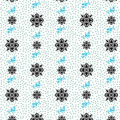 Fleur-de-lis butterfly dots   fabric by paragonstudios on Spoonflower - custom fabric