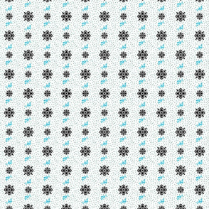 Fleur-de-lis butterfly dots
