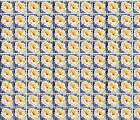 Lemon Rose and Lattice fabric by engelstudios on Spoonflower - custom fabric