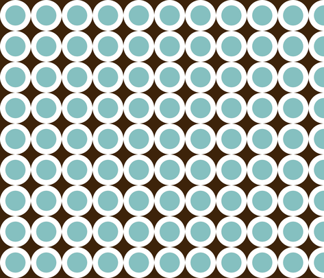 dusty_blue_coffee_rings fabric by kiwiandkiki on Spoonflower - custom fabric