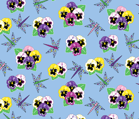 Dragonfly Dream - Bouquet fabric by inscribed_here on Spoonflower - custom fabric