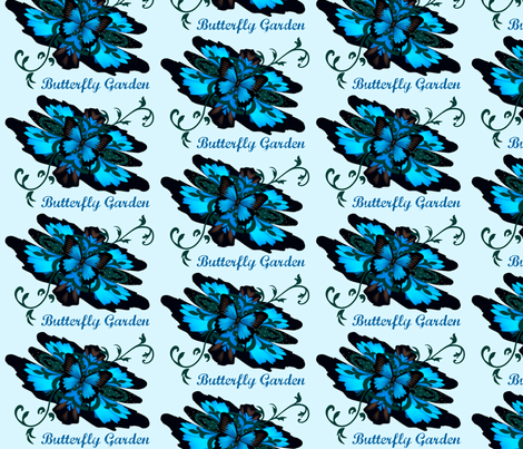 Fleur-de-lis butterfly Garden fabric by paragonstudios on Spoonflower - custom fabric