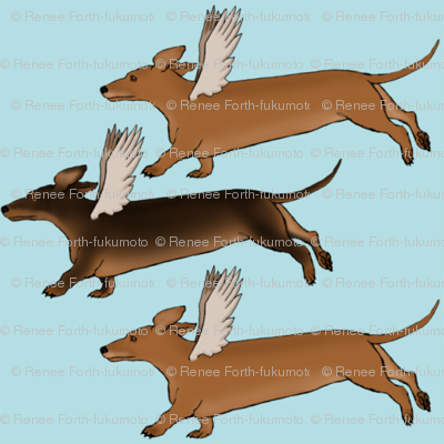 Dachshund Dogs with Wings-ed-ed-ed-ed