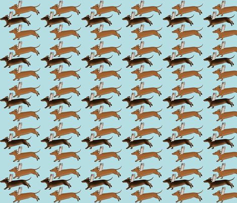 Dachshund Dogs with Wings-ed-ed-ed-ed fabric by theartfulhorse on Spoonflower - custom fabric