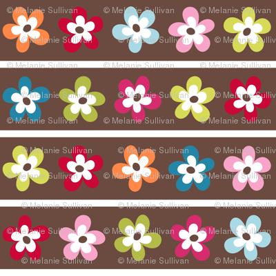 Floral Chocolate Stripe